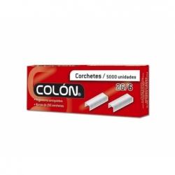 Corchete 26/6 estándar 5000 unidades Colon