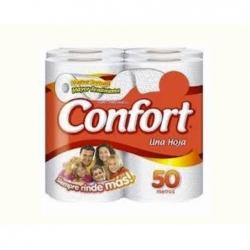 Papel Higienico 50 mts. 4 unidades Confort