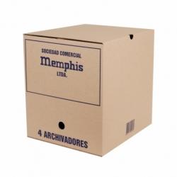 Caja Archivo 4 archivadores 32x36x37cm. Memphis