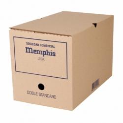 Caja Archivo Doble Estandar 25.5x23x38.5cm. Memphis