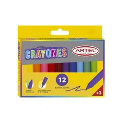 Crayón 12 colores Grueso Artel