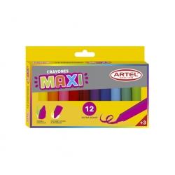 Crayón Maxi 12 colores Artel