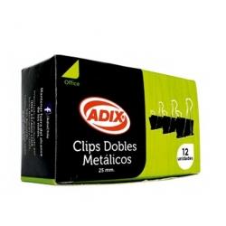 Apretador Doble Clip 25mm. 12und. Adix