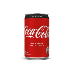 Bebida en Lata 220cc. Mini sin azúcar Coca Cola