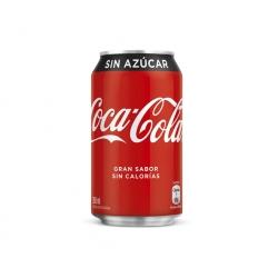 Bebida en Lata 350cc. Zero Coca Cola