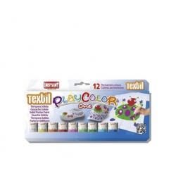 Tempera Solida Textil Playcolor 12 colores Instant