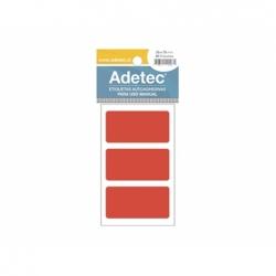 Etiqueta Fluor 35x70mm Rojo.