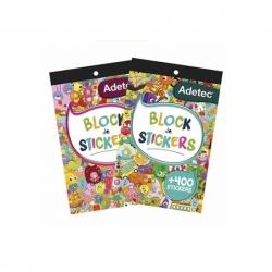 Block Stickers Figuras Diseños unisex 15x24mm.