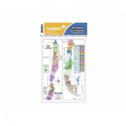 Lámina Autodhesiva Mapa Geográfico de Chile 19x13mm.