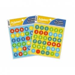 Stickers Escolar Letras y Números Autoadhesivos.