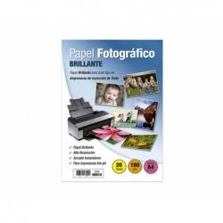 Papel Fotográfico Autoadhesivo A4 Brillante 20 Hojas 180 grs.