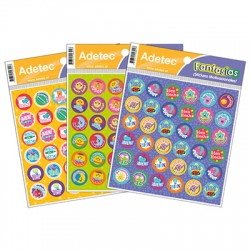 Etiqueta Escolar Incentivos 15 x 16 cm. 72 stickers Adetec