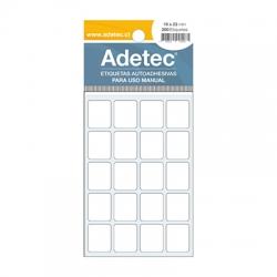 Etiqueta Adhesiva 19 x 23 mm. 6 Hojas 200 unidades Adetec