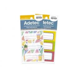 Etiqueta Escolar Mix diseños 35 x 70 mm. 24 unidades Adetec