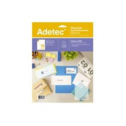 Etiqueta Inkjet/Laser 25 Hojas 53 x 70 mm blanca Adetec