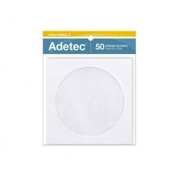 Sobre CD papel 50 unidades con ventana 5 colores Adetec