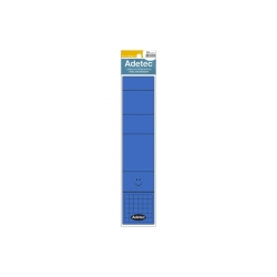 Lomo Autoadhesivo ancho 10 unidades azul Adetec