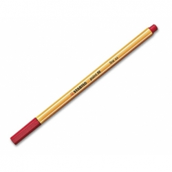 Lápiz Fibra Point 88 0.4mm. rojo Stabilo Boss