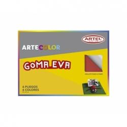 Carpeta Goma Eva 6 hojas Artecolor