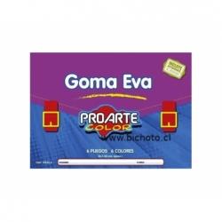 Carpeta Goma Eva 6 colores 6 hojas Proarte