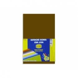 Goma Eva 20 x 30 2 mm.10 unidades café oscuro Hand