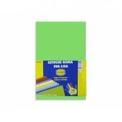 Goma Eva 20 x 30 2 mm. 10 unidades verde Hand