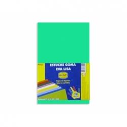 Goma Eva 20 x 30 2 mm.10 unidades verde claro Hand