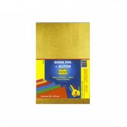 Goma Eva Glitter 20 x 30 cm 10 unidades dorada Hand