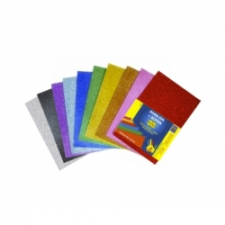 Goma Eva Glitter 20 x 30 cm 10 unidades colores surtidos Big Boss