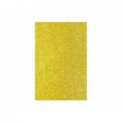 Goma Eva Glitter Pliego 40 x 60 cm 10 unidades dorada Hand