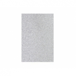 Goma Eva Glitter Pliego 40x60cm. 10 unidades plateada Hand