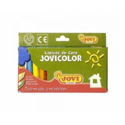 Lápices de Cera 12 colores Jovi