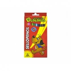 Lápices de Colores Largos 12 unidades Sellopencil