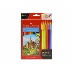 Lápices de Colores + 6 Neón 12 unidades Faber Castell