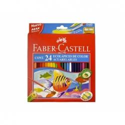 Lápices de Colores + Sacapunta 24 unidades Faber Castell