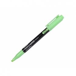 Marcador permanente desechable High-C  punta biselada verde Monami.