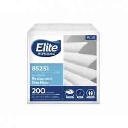 Servilleta Plus Mesa blanca 1 hoja 200 unidades x12 (85251) Elite