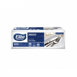 Servilleta 500 unidades extra blanca (28650) Elite