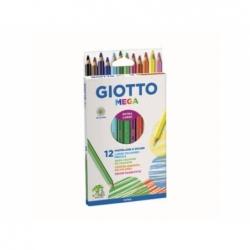 Lápiz Mega 12 Colores Giotto