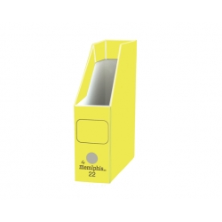 Caja revistera Nº22 oficio amarillo Memphis