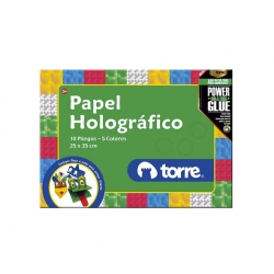 Bolson papel holográfico Imagia Torre