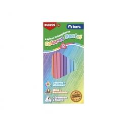 Lápices 12 colores largo triangular Torre