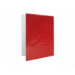 Archivador Plastificado con Accoclip rojo CI