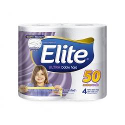 Papel Higiénico 50mts 4 unidades.  Elite