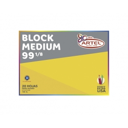 Block de Dibujo Medium N°99 1/8 20 hojas Artel