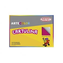 Carpeta Cartulina 14 colores 18 unidades Artel