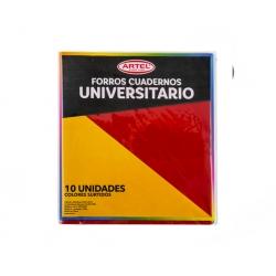Forro Cuaderno Universitario colores 10 und. Artel