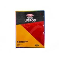 Forro Libro Universitario Colores 10 und. Artel