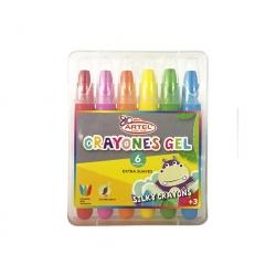 Estuche 6 Crayones Gel Artel