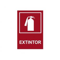 Señaletica Extintor 10 x 20 cm. adhesiva normal